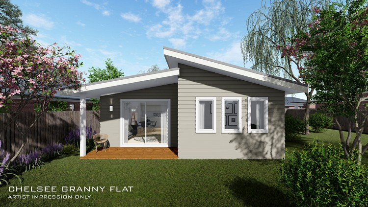 Chelsee Granny Flat Skillion roof, Home Design, Tullipan Homes