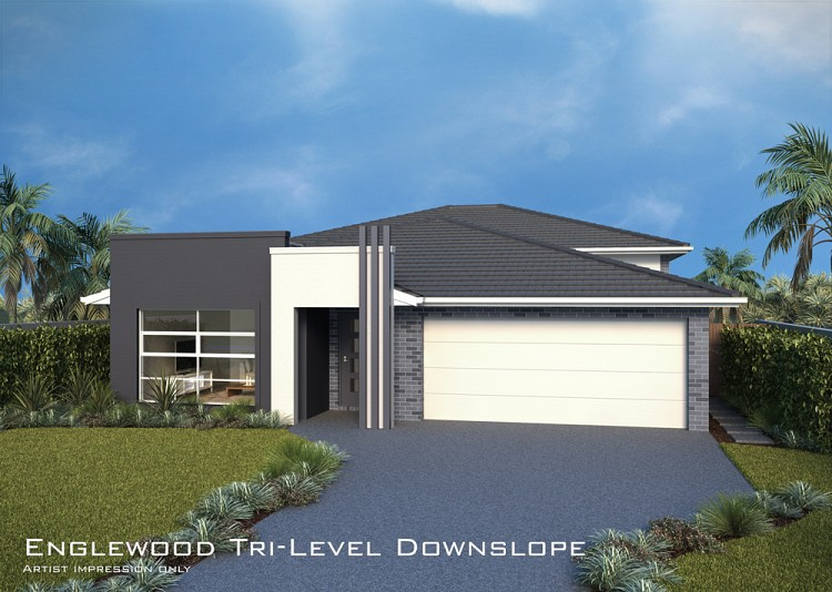 Englewood MKII Tri-Level Downslope, Home Design, Tullipan Homes