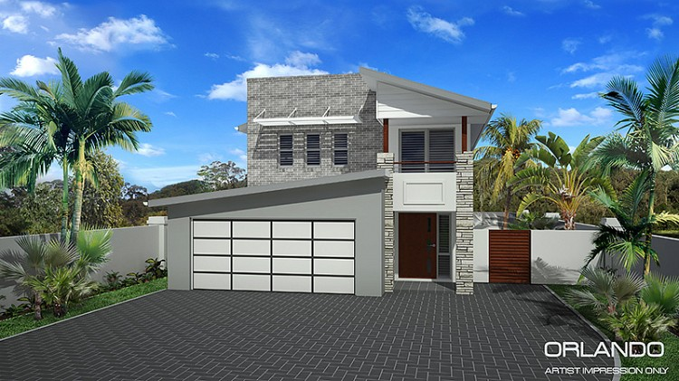 Orlando Double Storey - Narrow home design, Home Design, Tullipan Homes