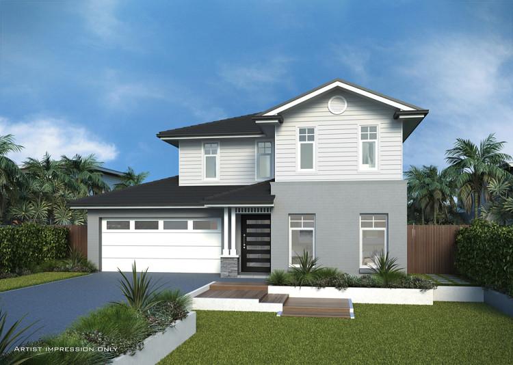 Caldera Hampton Facade, Home Design, Tullipan Homes
