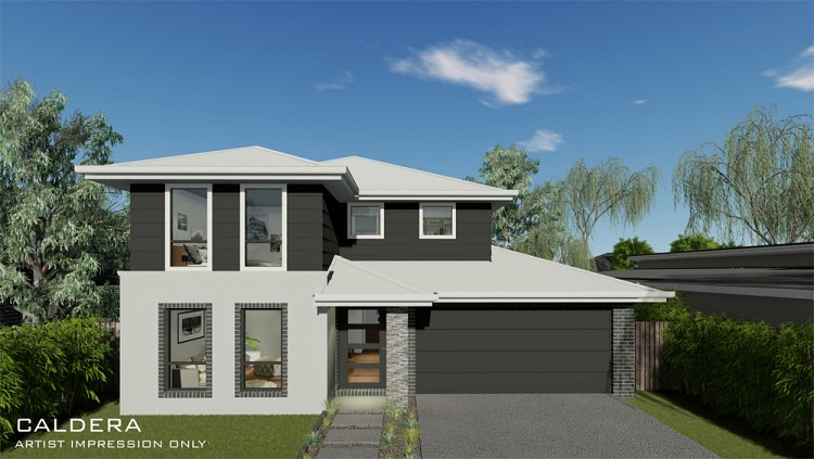 Caldera Double Storey Home design, Home Design, Tullipan Homes