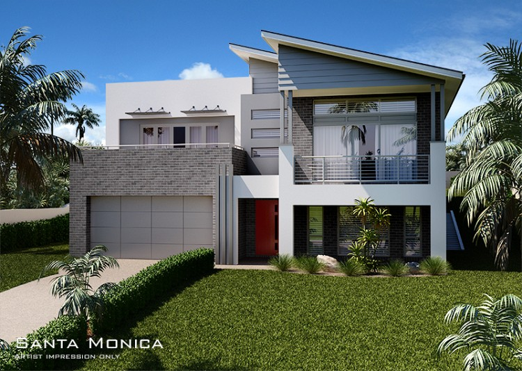 Santa Monica MKI Upslope Design., Home Design, Tullipan Homes