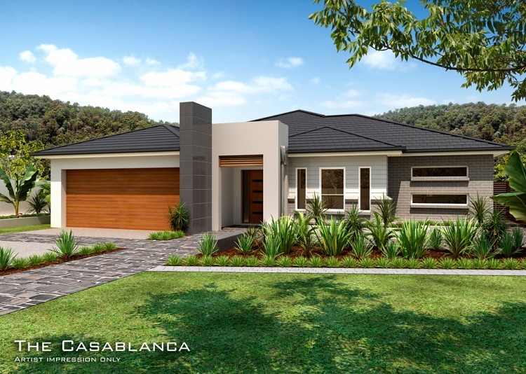 Casablanca Downslope design Metro Facade, Home Design, Tullipan Homes