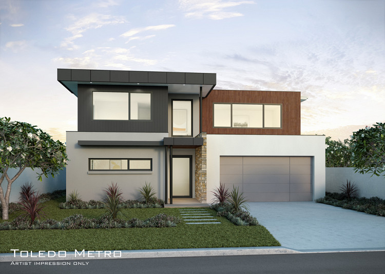 A Toledo Metro facade, Home Design, Tullipan Homes