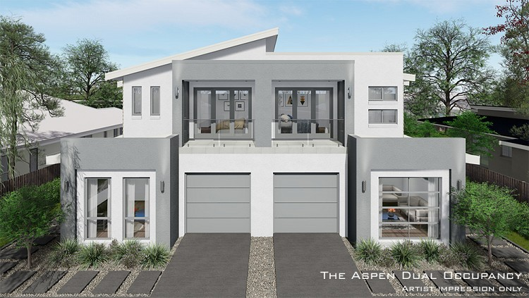Aspen Dual Occupancy, Home Design, Tullipan Homes