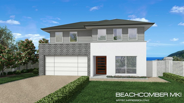Beachcomber MKI - Contemporary facade, Home Design, Tullipan Homes