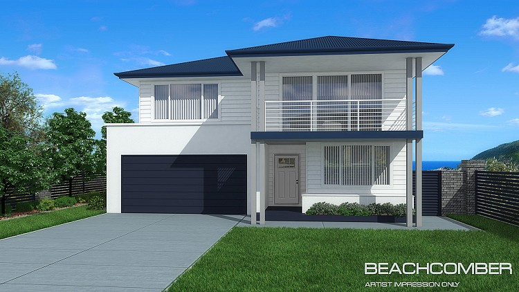 Beachcomber MKI - Coastal facade, Home Design, Tullipan Homes