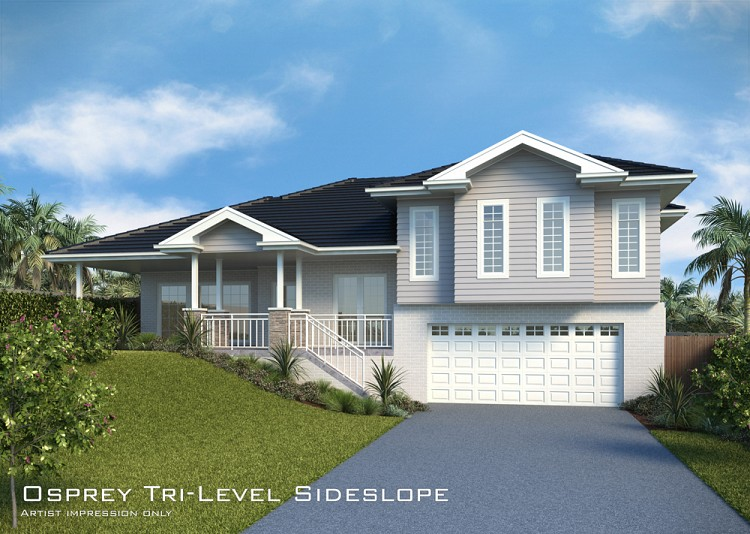 Osprey Tri-Level Sideslope, Home Design, Tullipan Homes