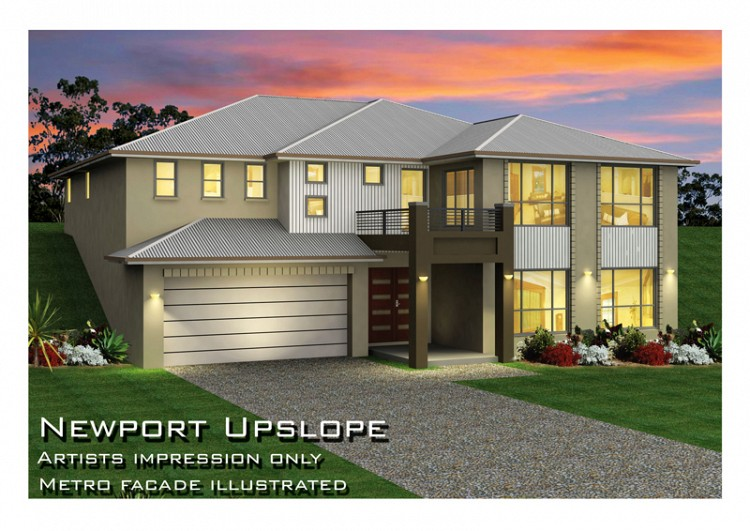 Newport MK 1 Upslope Design, Home Design, Tullipan Homes
