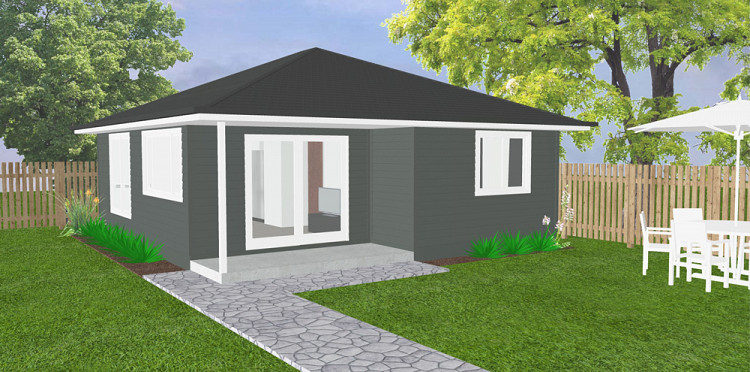 The Chelsea Granny Flat - Hip roof, Home Design, Tullipan Homes