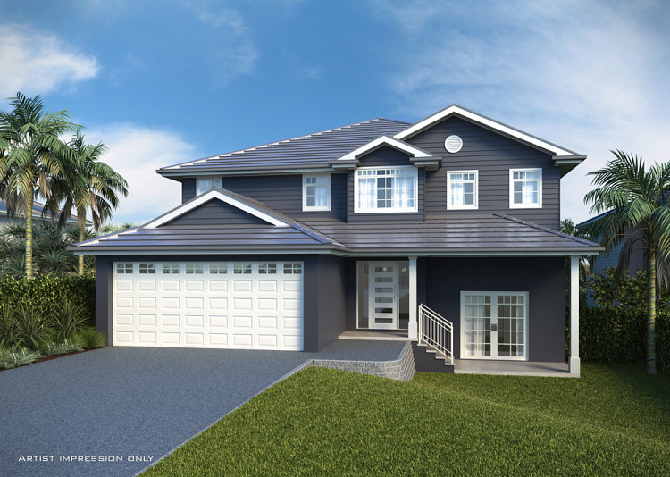 Sorrento MK6 Hampton Facade, Home Design, Tullipan Homes
