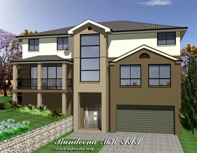 Bundeena MKIII Three storey upslope design, Home Design, Tullipan Homes