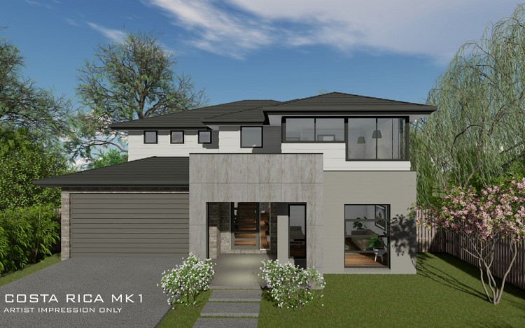 Costa Rica MKI Double storey, Home Design, Tullipan Homes