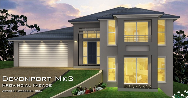 Devonport MKIII Provincial Facade., Home Design, Tullipan Homes