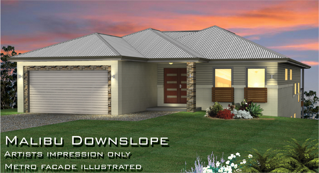 Malibu MK1 Downslope Design, Home Design, Tullipan Homes