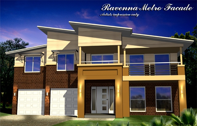 Ravenna GF3 FF3 Metro Facade, Home Design, Tullipan Homes