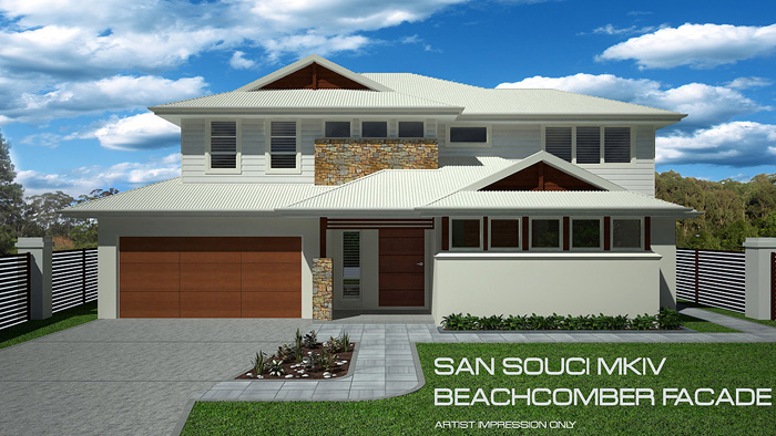 San Souci MKIV Beachcomber facade, Home Design, Tullipan Homes