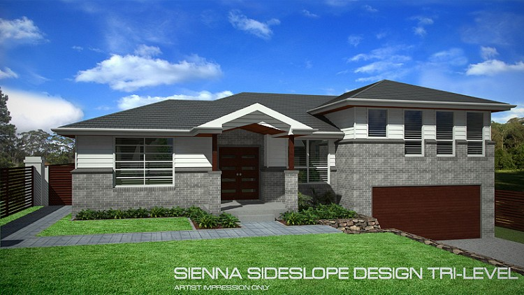 Sienna Tri-Level Sideslope design 28 Squares, Home Design, Tullipan Homes