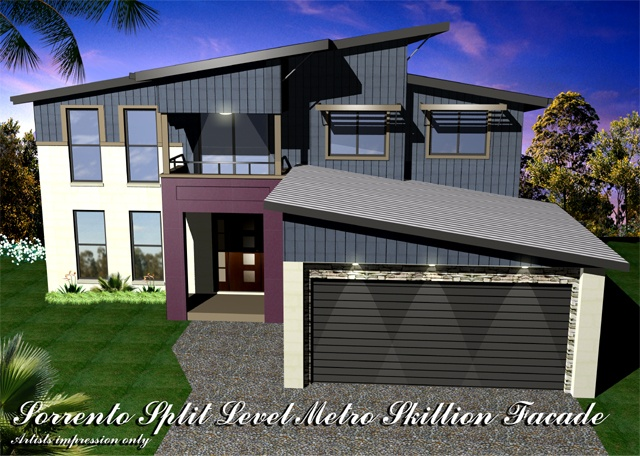 Sorrento MK5 Split Level Metro Skillion Roof, Home Design, Tullipan Homes