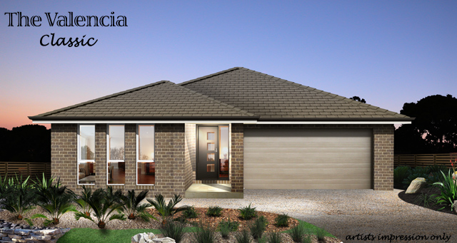 Valencia Classic Facade with Alfresco, Home Design, Tullipan Homes