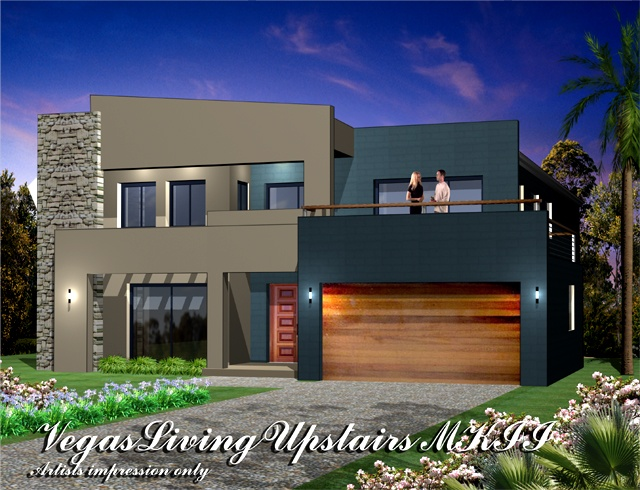 Vegas MKII  Living areas Upstairs Metro Facade, Home Design, Tullipan Homes