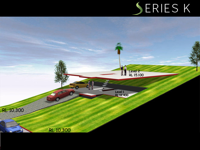 Series K UPWARDS SLOPING - 3rd Opt Ideal for 1m in 5m Rise, Home Design, Split Level Homes
