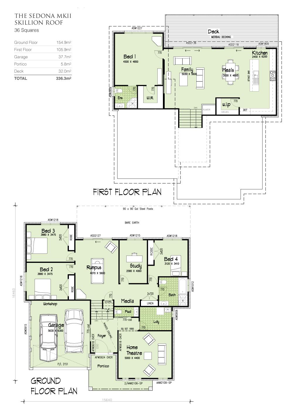 Sedona MKII - TRI-LEVEL - Skillion Roof., Home Design, Tullipan Homes