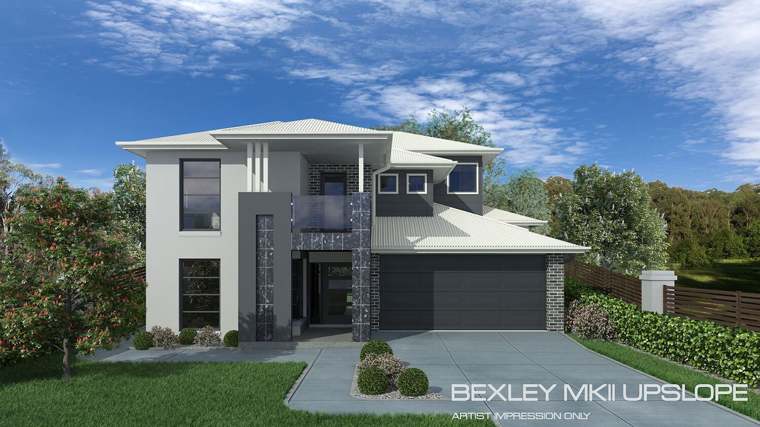 Bexley mkii upslope home design tullipan homes for Up slope house plans