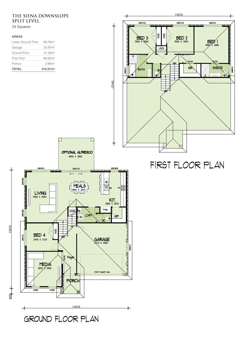 SIENA Downslope Design, Home Design, Tullipan Homes