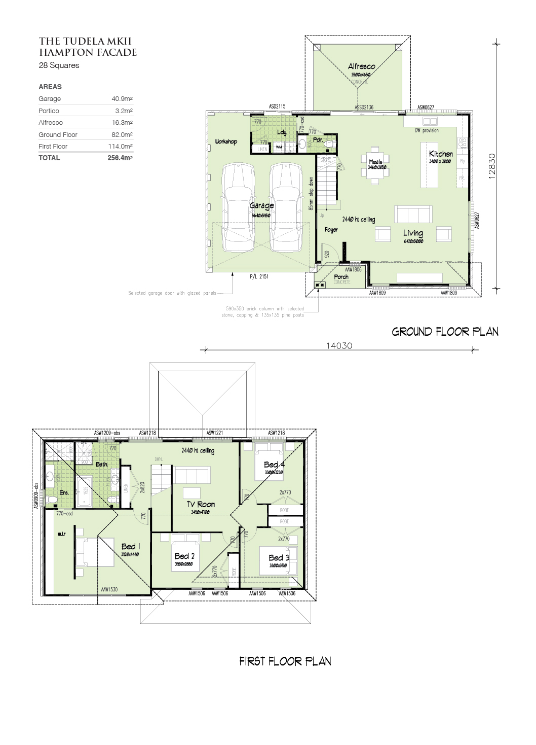 Tudela Hampton facade, Home Design, Tullipan Homes