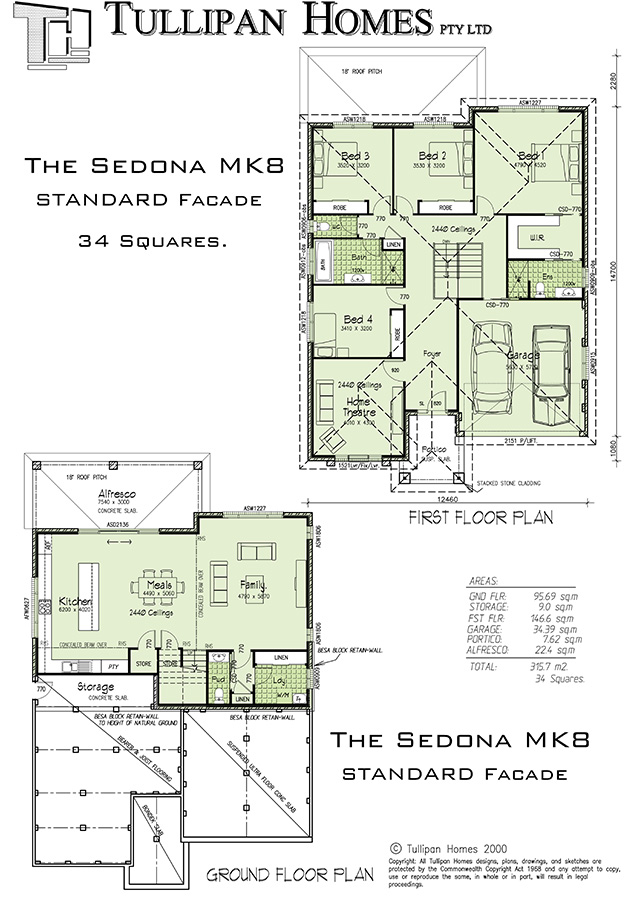 SEDONA MK8 DOWNSLOPE, Home Design, Tullipan Homes