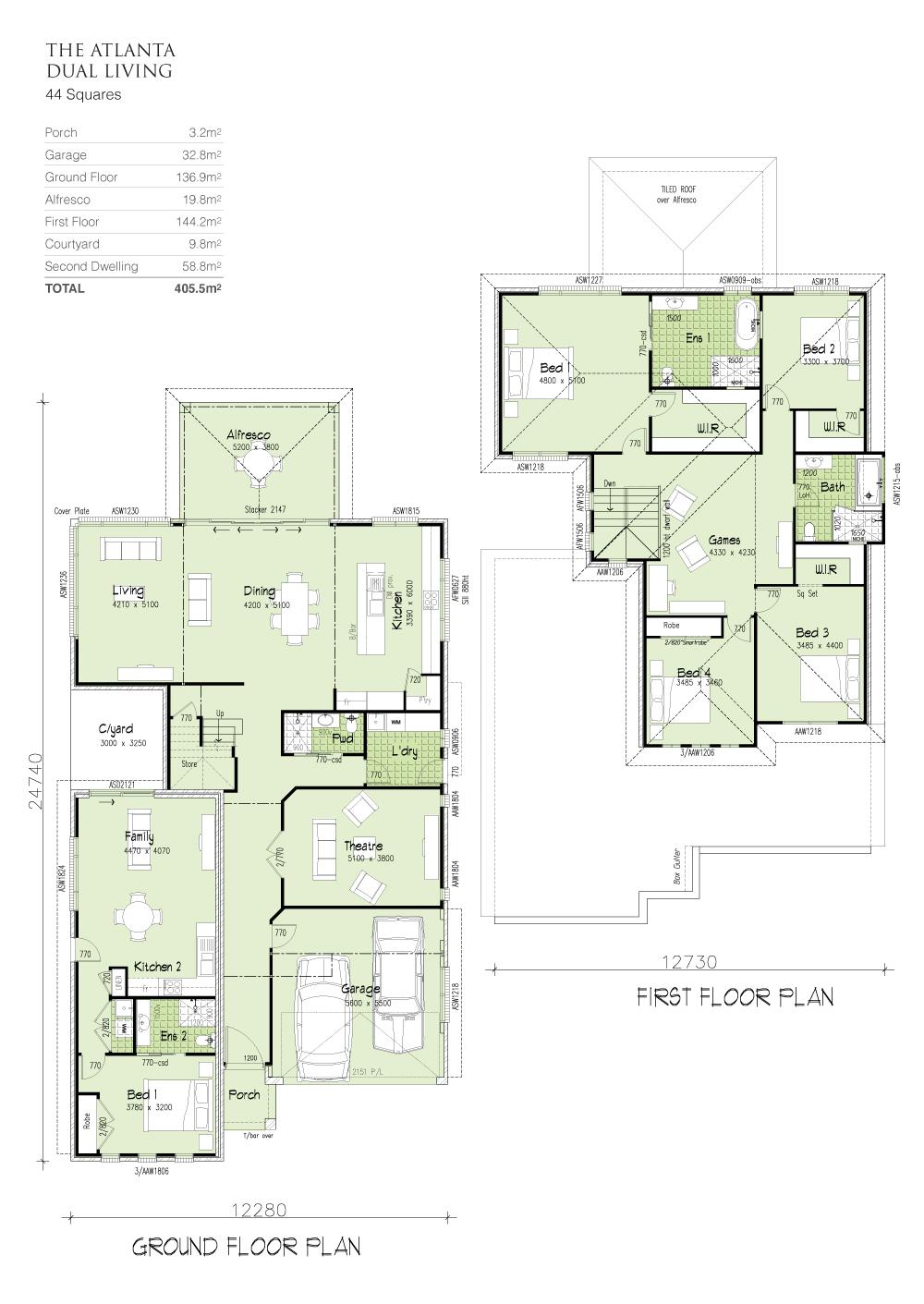 Atlanta MKI Dual Living, Home Design, Tullipan Homes