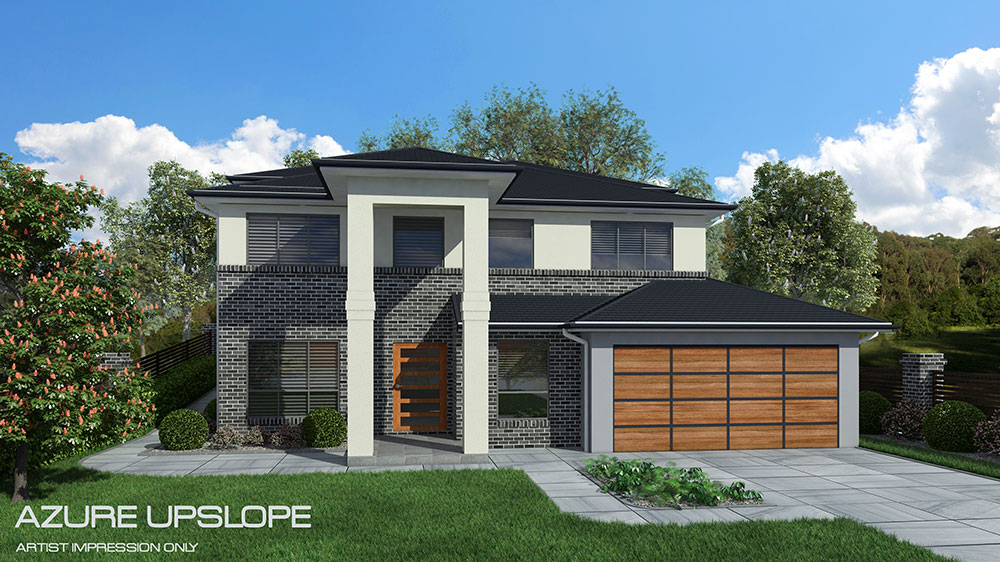 Azure uplsope design home design tullipan homes for Up slope house plans