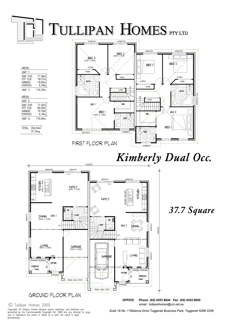 Kimberly Dual Occupancy, Home Design, Tullipan Homes