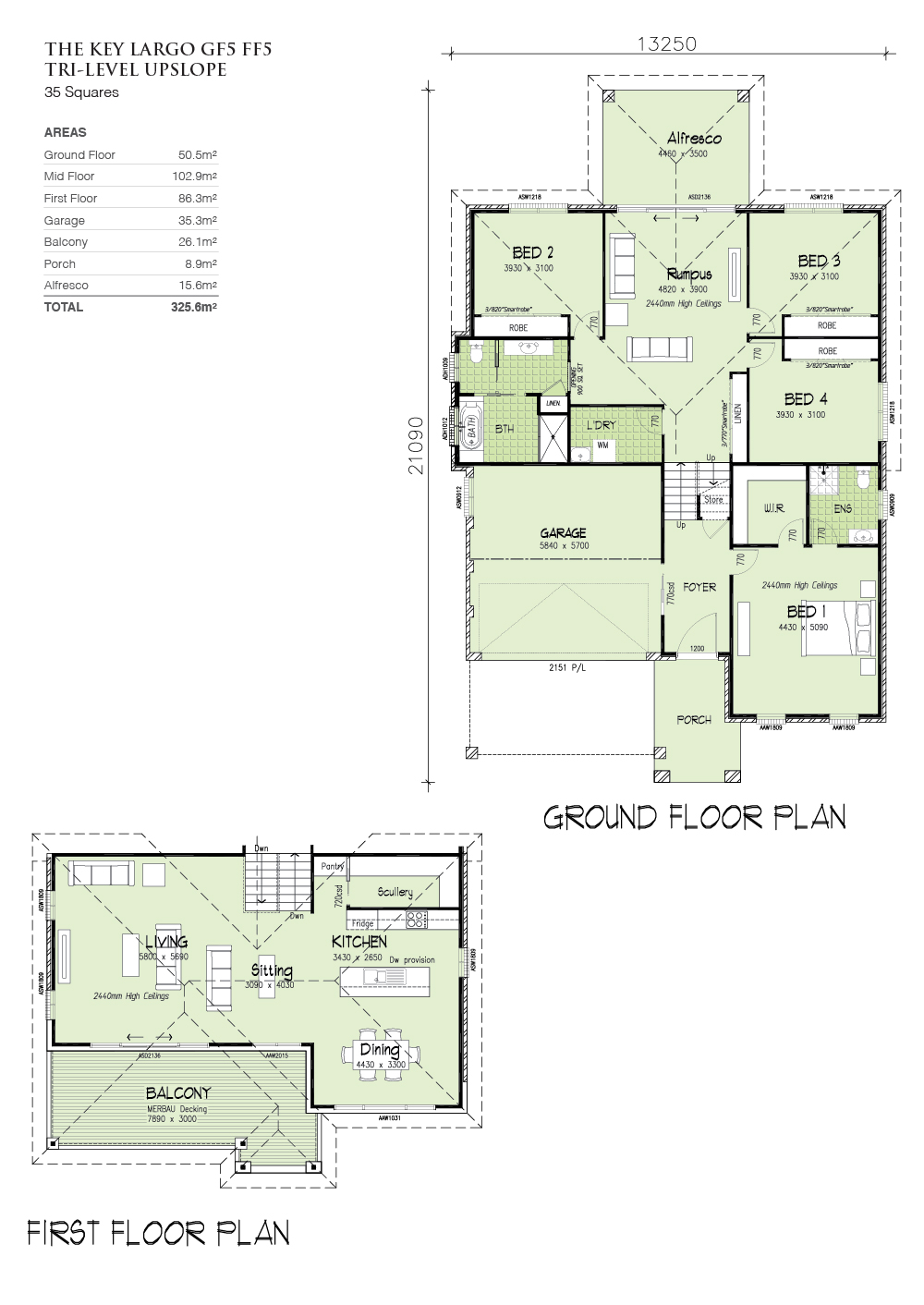 Keylargo GF5 FF5, Home Design, Tullipan Homes