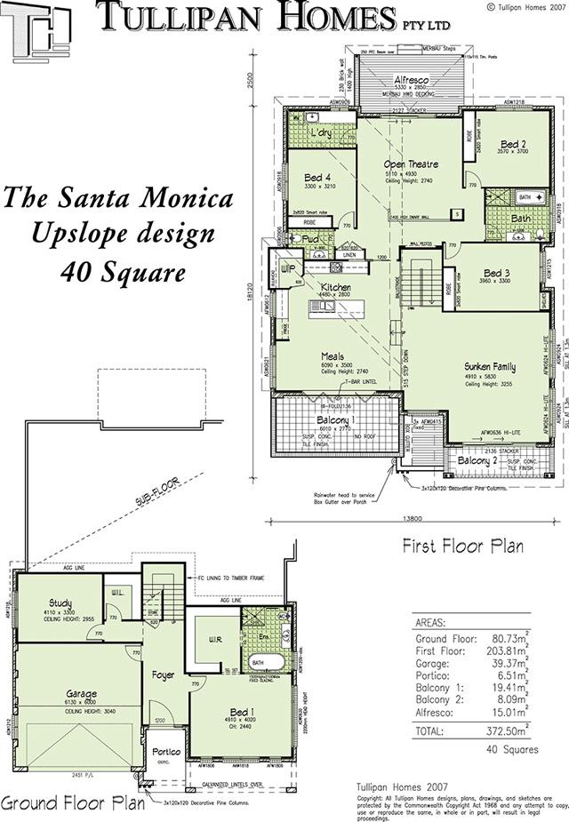 Santa monica upslope design home design tullipan homes for Up slope house plans