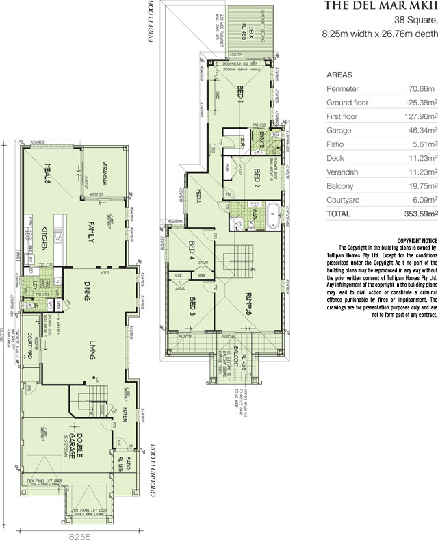 Del Mar MK 2, Home Design, Tullipan Homes