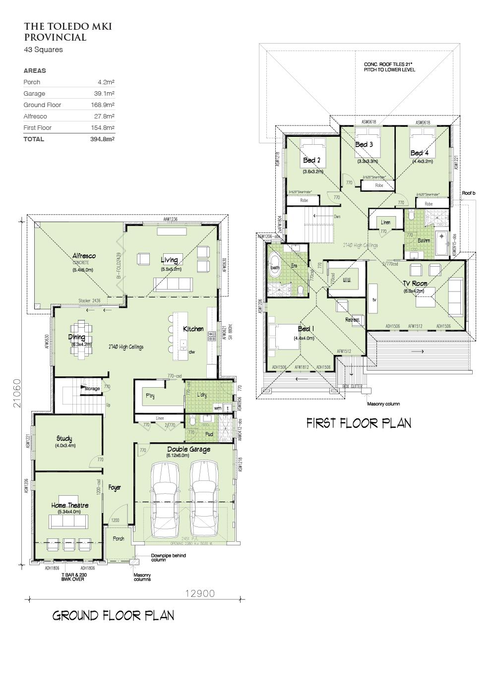 Toledo MK1 Provincial Facade, Home Design, Tullipan Homes