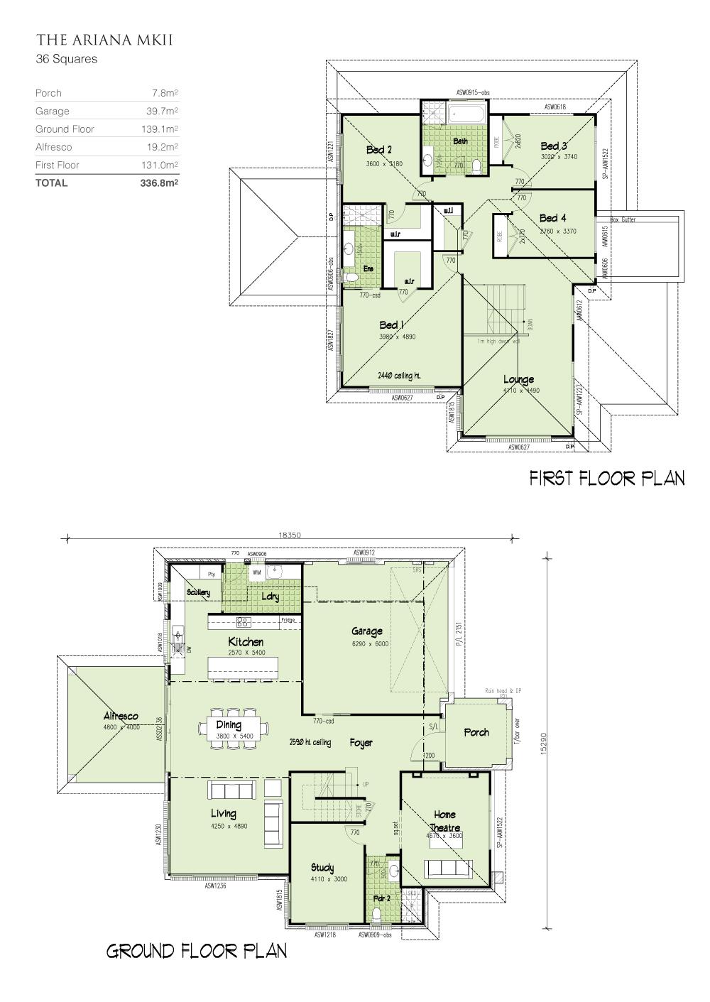 Ariana MKII, Home Design, Tullipan Homes