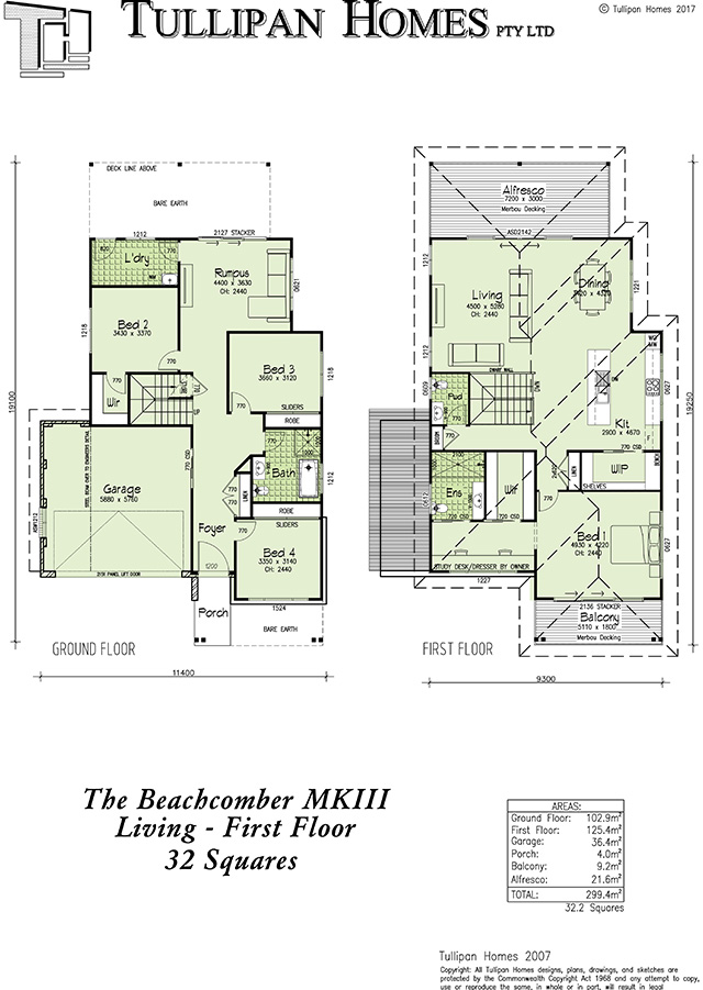 Beachcomber MKIII, Home Design, Tullipan Homes