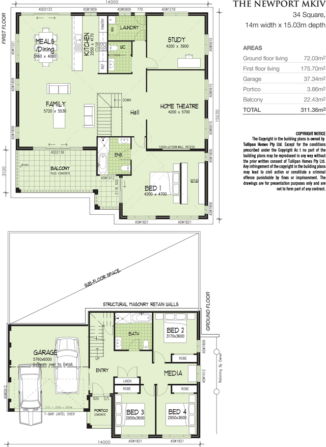 NEWPORT MKIV - 34 SQUARE., Home Design, Tullipan Homes