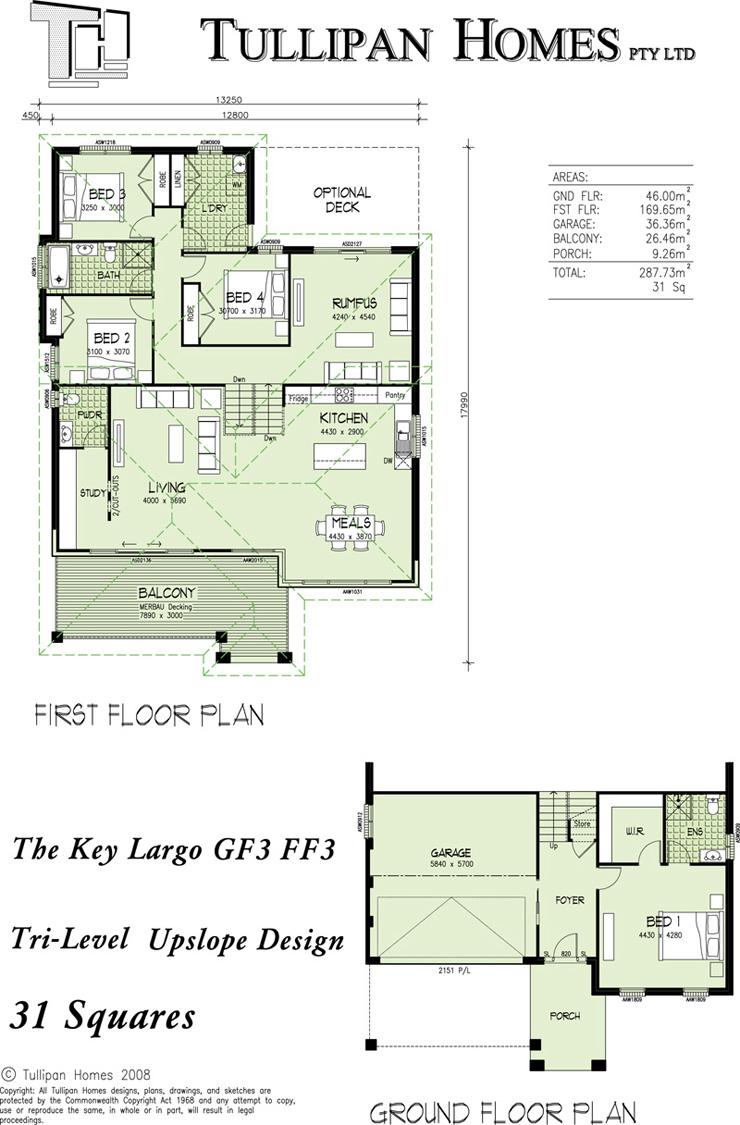 Keylargo GF3 - FF3 Upslope Design., Home Design, Tullipan Homes