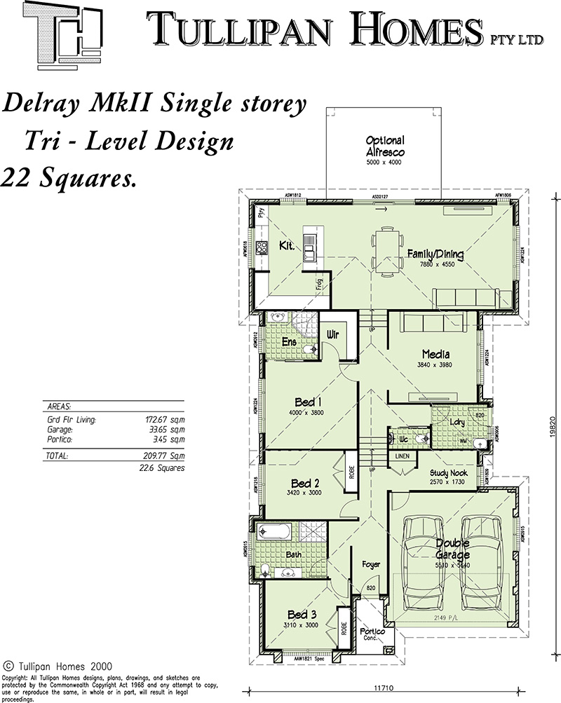 Delray MKII - Tri Level - Upslope Design, Home Design, Tullipan Homes