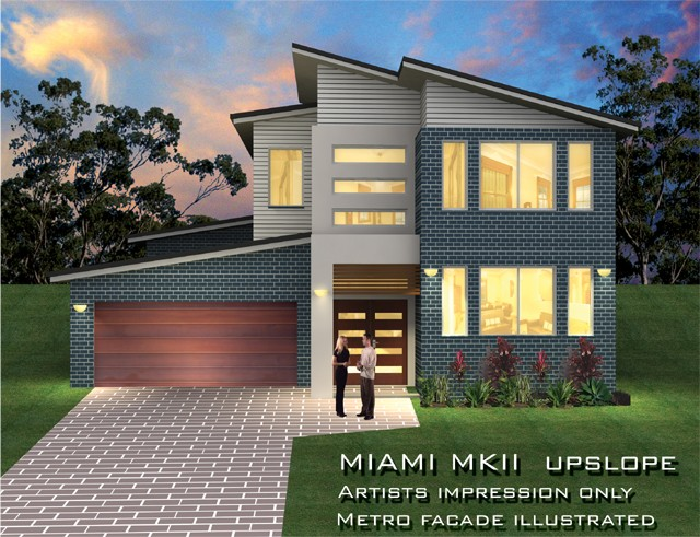 Miami upslope 33 squares home design tullipan homes for Up slope house plans