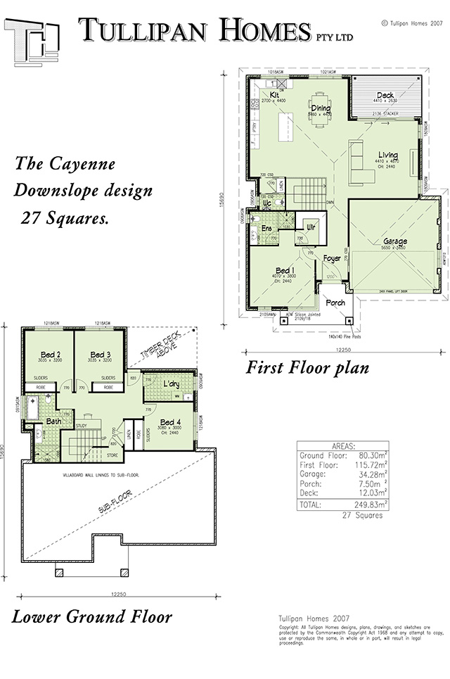 Cayenne Downslope design, Home Design, Tullipan Homes