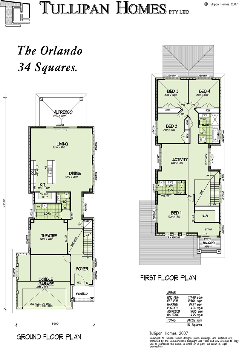 Orlando double storey narrow home design home design for Free double storey house plans
