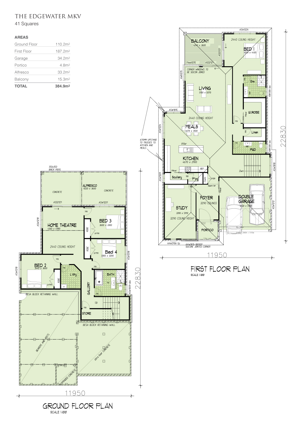Edgewater MKV - Downslope design, Home Design, Tullipan Homes