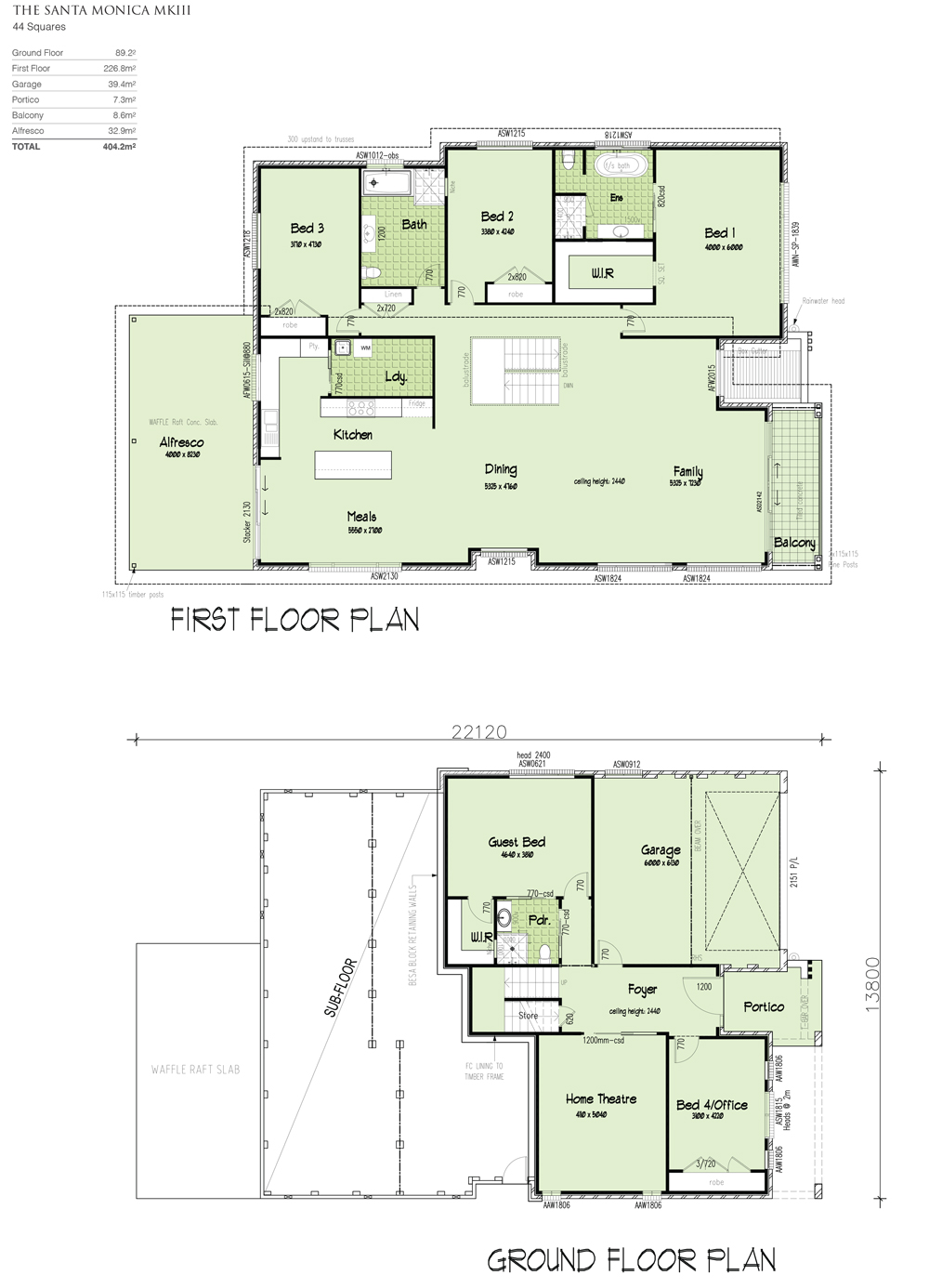 Santa Monica MKIII upslope Design, Home Design, Tullipan Homes