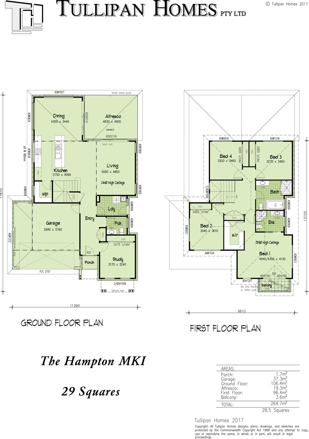 HAMPTON MKI, Home Design, Tullipan Homes