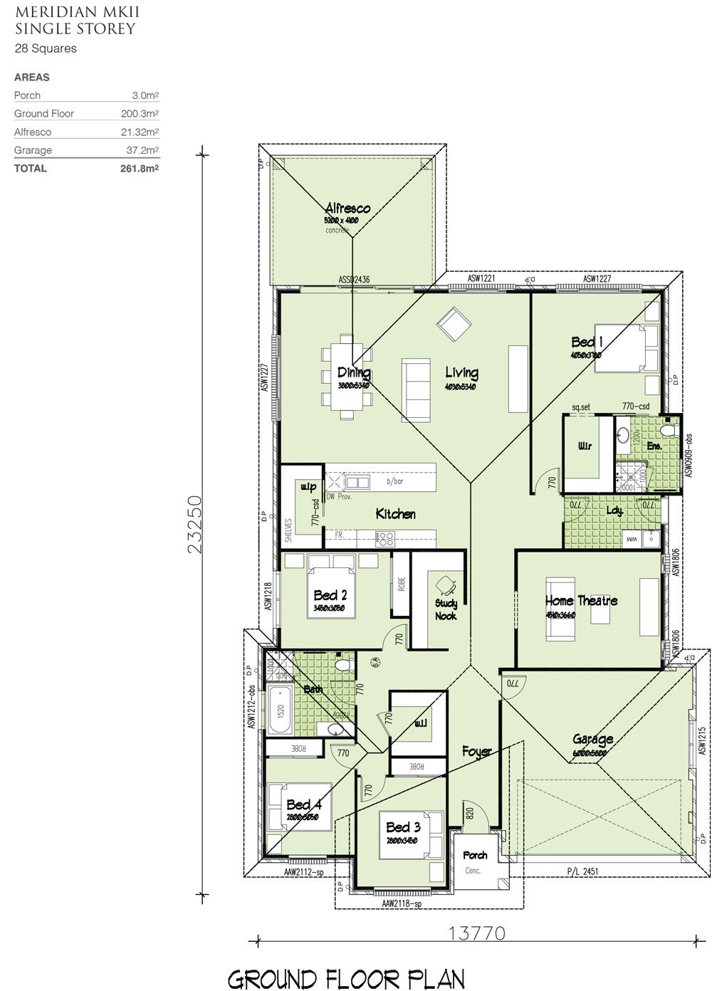 Meridian MKII, Home Design, Tullipan Homes